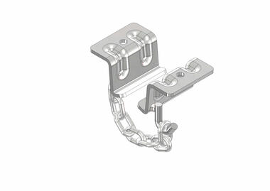 Stainless steel support brackets for fixing meat rail with chain