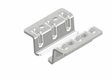 Stainless steel support brackets for fixing meat rail